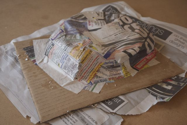 Papier mache hill - WIP